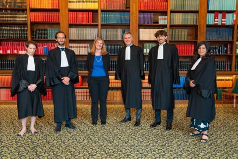 De gauche à droite : Mme Claire Lyautey, M. Quentin Reynier, Mme la Professeure Cécile Chainais, M. le Président François Molinié, M. Vincent Lassalle-Byhet et Mme Andréa Londoño-Lopez