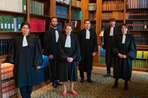 De gauche à droite : Mme Londoño-Lopez, M. Reynier, Mme Lyautey, M. Posez, M. Lassalle-Byhet et Mme Debû-Carbonnier